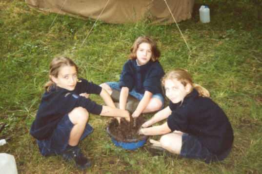 Table à feu : Sixtine, Cécile, Yolaine